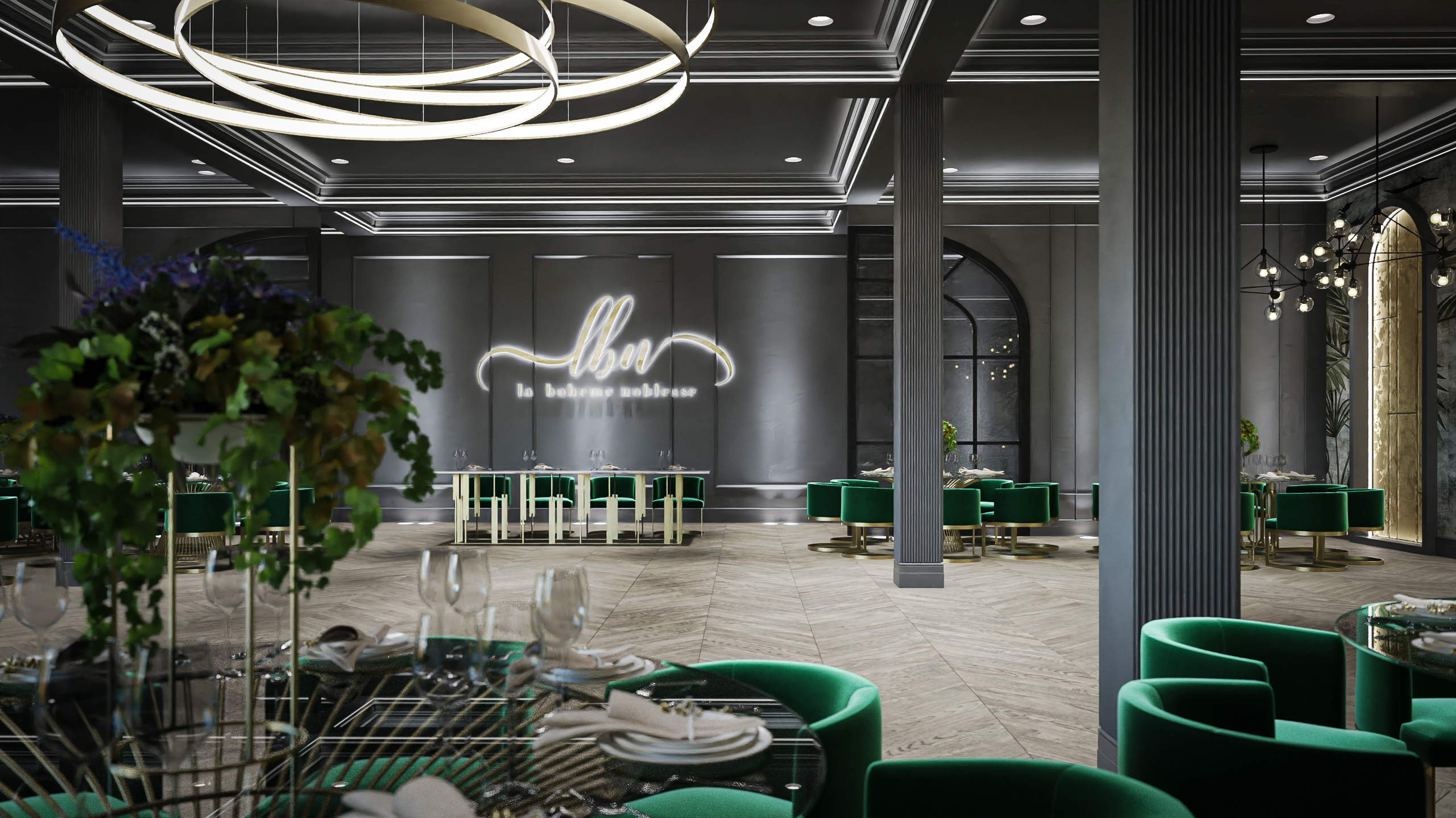 amenajare salon evenimente - arhitect Daliana Raducan